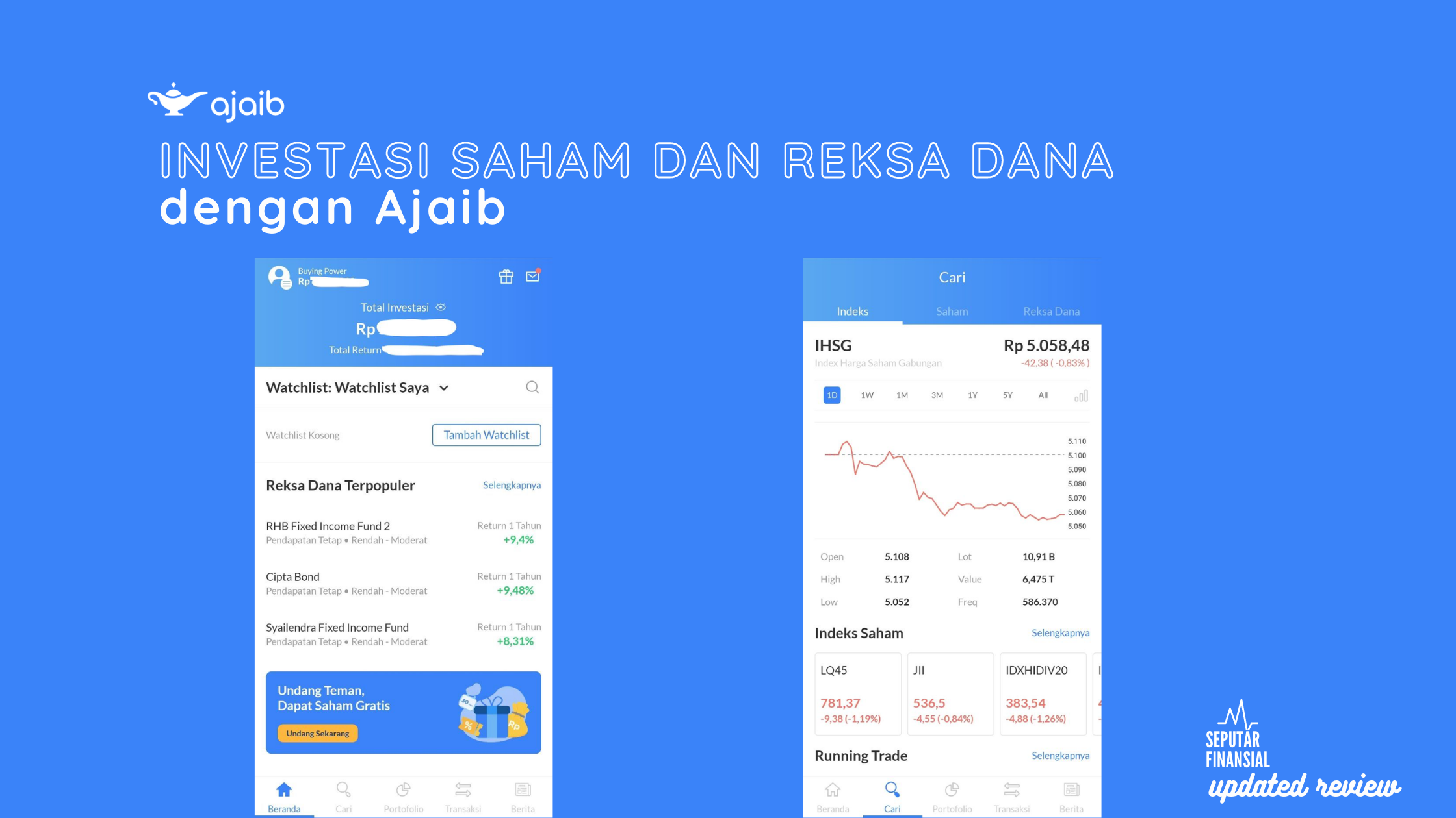 Review update: Investasi reksa dana DAN saham dengan Ajaib ...